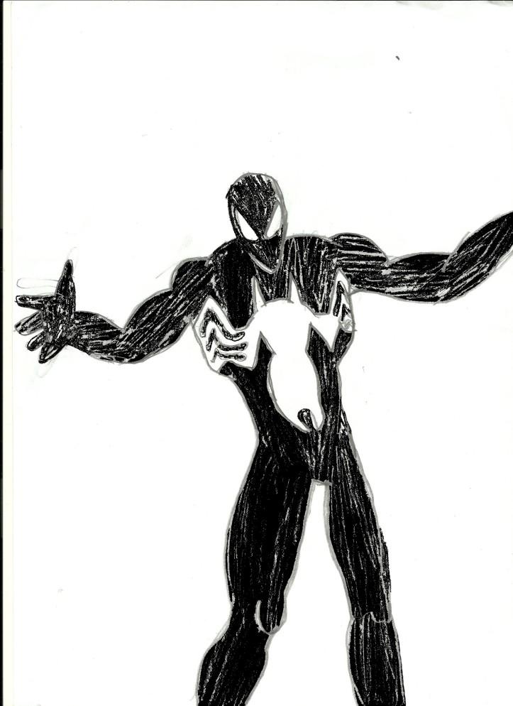 Homem-Aranha Negro - Colorido - Bignada Fan Art