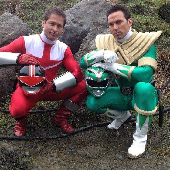 Power Rangers Super Megaforce - Wes, Ranger Vermelho Força do Tempo, eTommy, Ranger Verde Mighting Morphing
