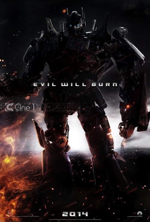 Transformers 4 - Evil Will Burn Poster