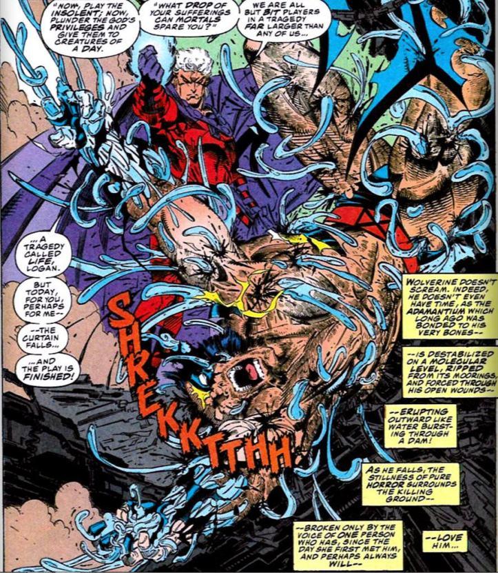 Magneto arranca Adamantium do corpo de Wolverine