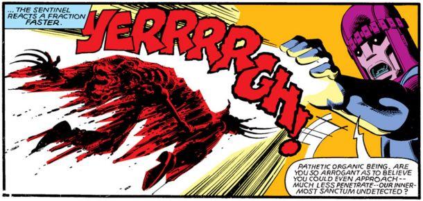 Wolverine morto pela Sentinela - X-Men Days of Future Past