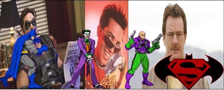 Batman Vs. Superman - Batman Comediante, Coringa Peste e Lex Luther Breaking Bad