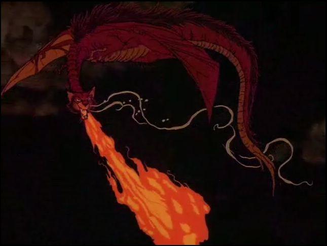 Smaug com Pelos - The Hobbit (1977)