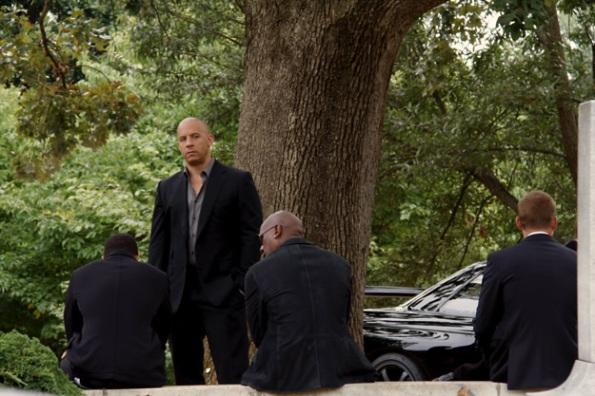Velozes e Furiosos 7 - Funeral do Han no set de filmagem