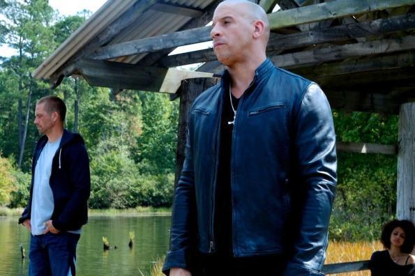 Velozes e Furiosos 7 - Vin Diesel, Paul Walker e Nathalie Emmanuel no set de filmagem