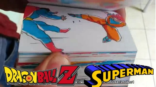 Goku SSJ God Vs. Superman Flipbook Animation