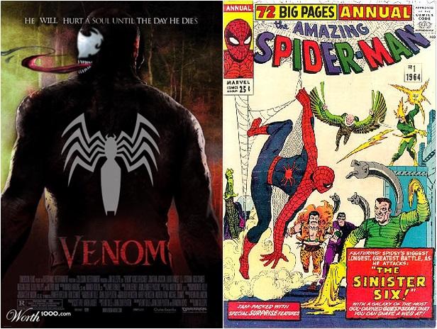 Amazing Spider-Man - Venom e Sexteto Sinistro em filmes soloso