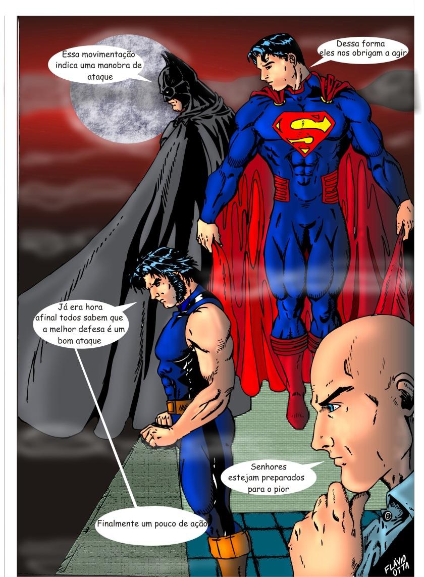 Liga da Justiça e X-Men Fanadart por Flávio Otta