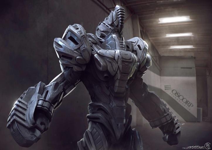 Espetacular Homem-Aranha - A Ameaça de Electro - Rhino - Armadura Alternativa 01