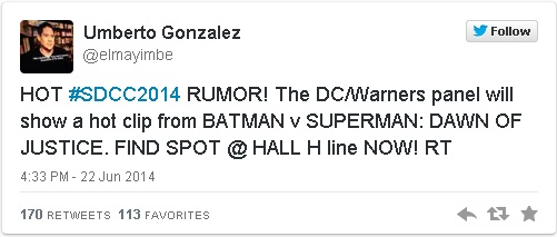 Batman V Superman Teaser Trailer Comic Con 2014