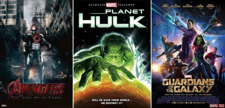 Vingadores - A Era de Ultron - Planeta Hulk em Guardiões da Galáxia 2
