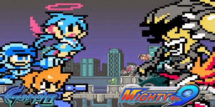 Mighty Gunvolt - Cross over de Mighty N.9 com Azure Striker Gunvolt