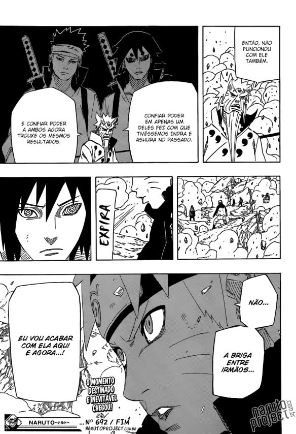 Naruto Mangá #692 - Naruto Vs. Sasuke