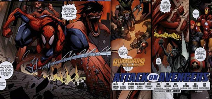 Attack on Avengers - Primeiras oito páginas do cross-over