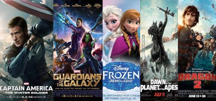 Top 5 - Melhores Filmes de 2014
