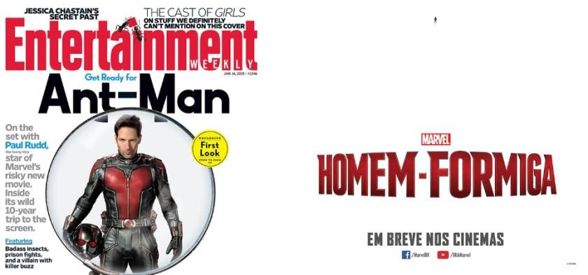 Homem-Formiga - Capa da EW e Teaser Poster