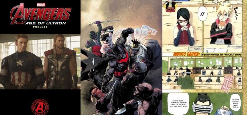 Destaques do Forever #4 - Vingadores - Era de Ultron, Convergência e Naruto Gaiden