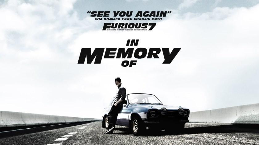 See you again - Em memória de Paul Walker (Velozes e Furiosos 7)