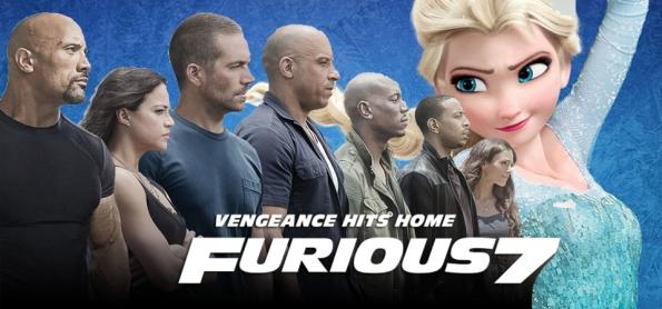 Velozes e Furiosos 7 ultrapassa bilheteria de Frozen - Uma Aventura Congelante