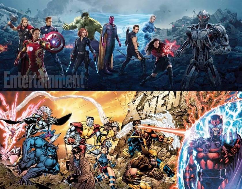Vingadores - A Era de Ultron banner e Capa dos X-Men