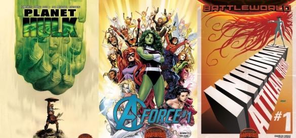 Destaques dos Quadrinhos #5 - Planeta Hulk, V-Force e Inumanos - A Ascensão de Attilan