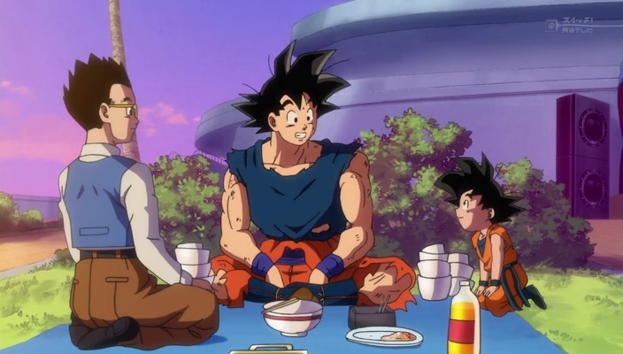 Goku, Gohan e Goten (Dragon Ball Super - Episódio 14)