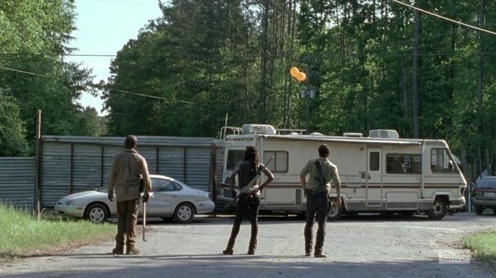 Morgan, Michonne e Rick (The Walking Dead - S06E01)
