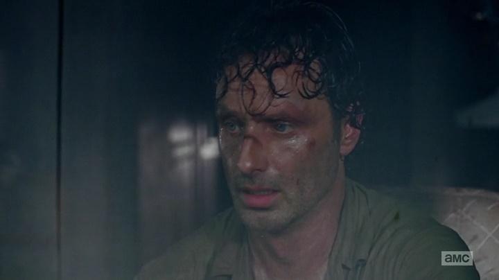 Rick preso na van com os zumbis (The Walking Dead - S06E03)