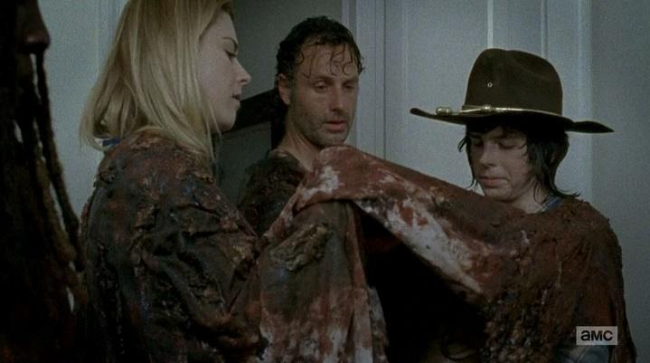 Camuflagem de zumbi de novo (The Walking Dead - S06E08)