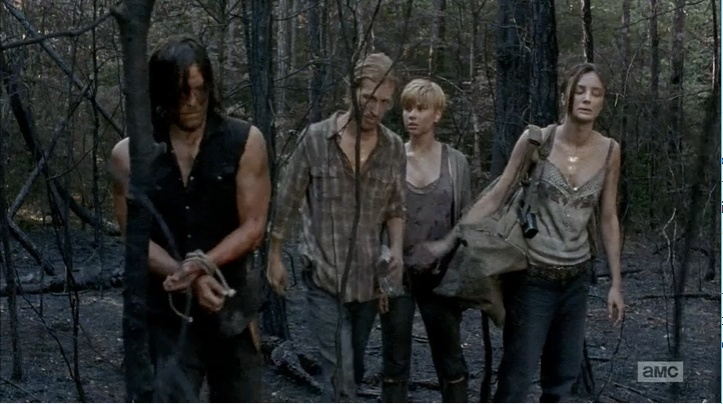 Daryl capturado (The Walking Dead - S06E06)