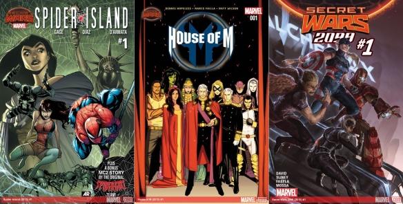 Destaques do Quadrinhos #7 - Ilha das Aranhas, Dinastia M e Guerras Secretas 2099