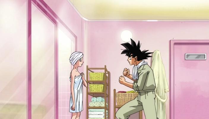 Goku e Bulma pelada (Dragon Ball Super - Episódio 17)