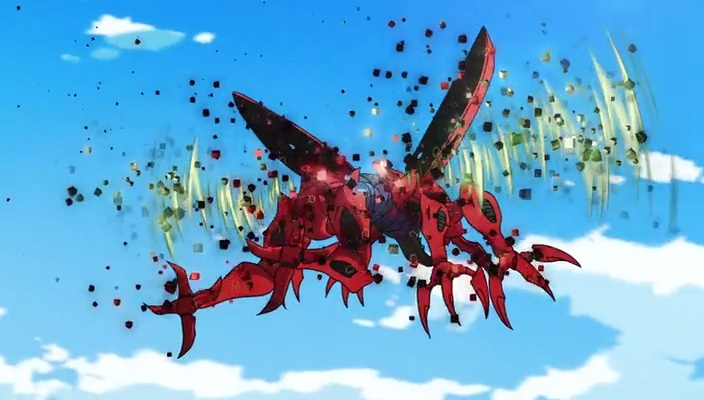 Kuwagamon infectado (Digimon Adventure tri - Episódio 01)