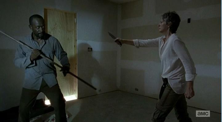 Morgan Vs. Carol - Round 1 Fight (The Walking Dead S06E08)