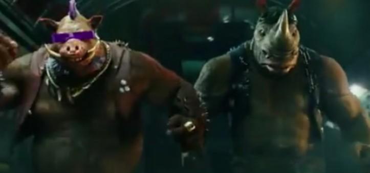 Bebop e Rocksteady no teaser trailer de  Tartarugas Ninja 2
