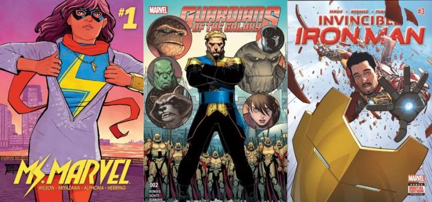 Destaques do Quadrinhos #15 - Miss Marvel, Guardiões da Galáxia e Homem de Ferro