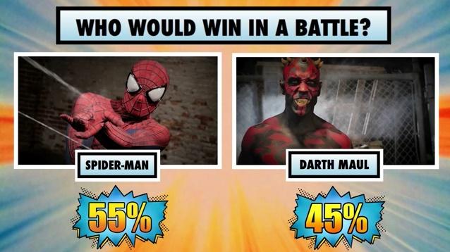 Homem-Aranha vence Darth Maul - Super Power Beat Down - Episódio 17