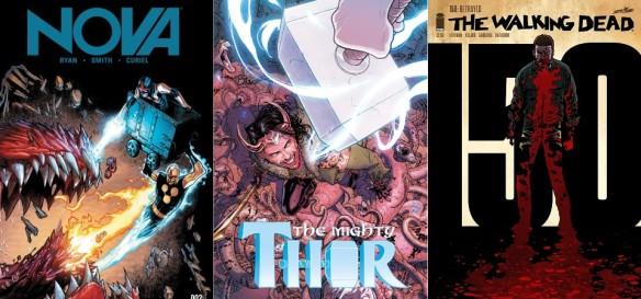 Destaques do Quadrinhos #24 - Nova, Thor e The Walking Dead