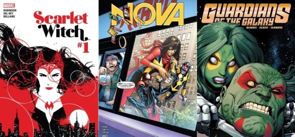 Destaques dos Quadrinhos #29 - Feiticeira Escarlate, Nova e Guardiões da Galáxia