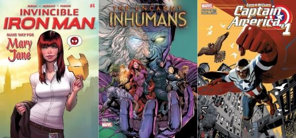 Destaques dos Quadrinhos #29 - Invencível Homem de Ferro, Fabulosos Inumanos e Capitão América - Sam Wilson
