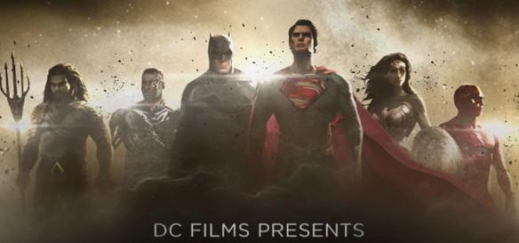 Liga da Justiça - Aquaman, Ciborgue e Flash em primeira arte conceitual