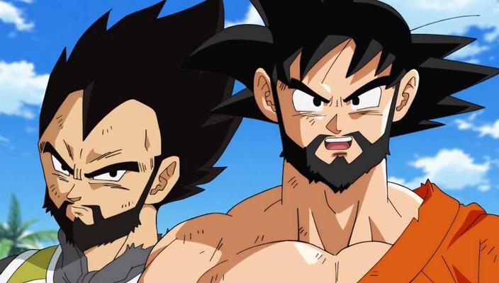 Goku e Vegeta de barba (Dragon Ball Super - Episódio 31)