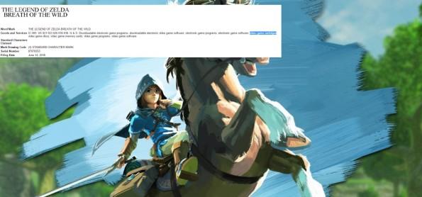 Patente de The Legend of Zelda - Breath of the Wild lista uso de cartucho