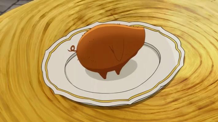 A torta de carne em formato de porco (Nanatsu no Taizai Seisen no Shirushi - Episódio 01)