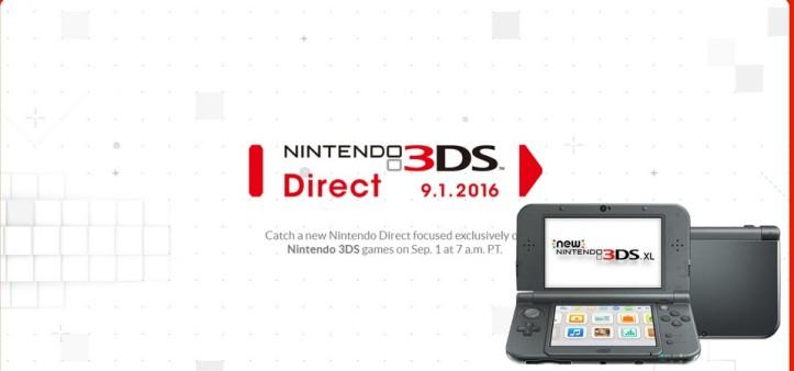 Anunciado novo Nintendo Direct focado no 3DS para 01 de setembro