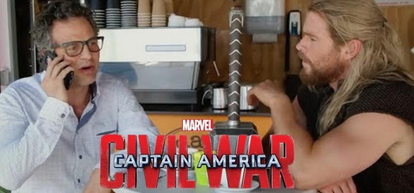 Capitão América - Guerra Civil - Time Thor - Divertido motivo do porquê Thor & Hulk não estão no filme