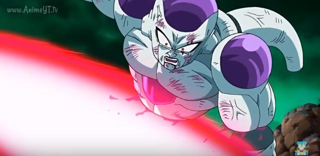 Freeza cortado no meio (Dragon Ball Z - Ressurection F - Especial do Futuro do Trunks)