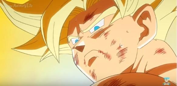 Goku com olhar triste (Dragon Ball Z - Ressurection F - Especial do Futuro do Trunks)