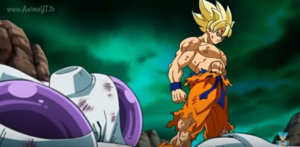 Goku derrota Freeza (Dragon Ball Z - Ressurection F - Especial do Futuro do Trunks)