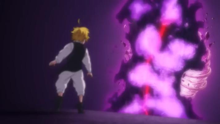 Meliodas destroi o chifre do clã das deusas (Nanatsu no Taizai Seisen no Shirushi - Episódio 01)